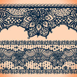 Abstract Lace Ribbon banners,Arabic stripes pattern Royalty Free Stock Photo