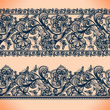 Abstract Lace Ribbon banners.Template frame design for card. stock illustration