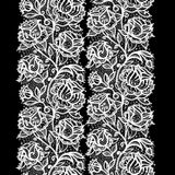 Abstract lace ribbon seamless pattern with elements flowers Stock Photos