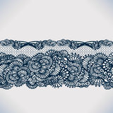 Abstract lace ribbon seamless pattern with elements flowers. Royalty Free Stock Photos