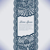 Abstract lace ribbon seamless pattern with elements flowers. Royalty Free Stock Photography