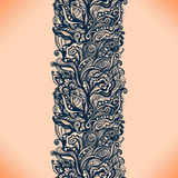 Abstract lace ribbon seamless pattern. With elements flowers. Template frame design for card. Lace Doily. Can be used for packaging, invitations, and template Stock Photos