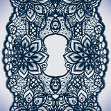 Abstract lace ribbon seamless pattern with elements flowers. vector illustration
