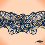 Abstract lace ribbon seamless pattern Royalty Free Stock Photos