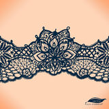 Abstract lace ribbon seamless pattern royalty free illustration