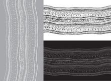 Abstract lace ribbon seamless pattern. Stock Image