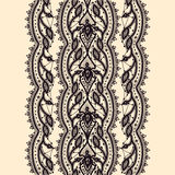 Abstract Lace Ribbon Seamless Pattern. vector illustration
