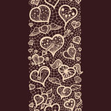 Abstract Lace Ribbon valentin's day royalty free illustration