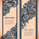 Abstract Lace Ribbon Vertical banners stock illustration