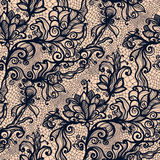 Abstract lace ribbon vertical seamless pattern. Stock Images