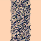 Abstract lace ribbon vertical seamless pattern. Stock Photography