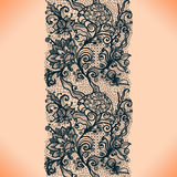 Abstract lace ribbon vertical seamless pattern. Stock Photos