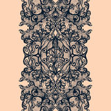 Abstract lace ribbon vertical seamless pattern Royalty Free Stock Photography