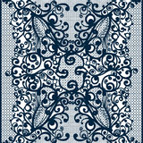 Abstract Lace Ribbon vintage vertical seamless pattern. Stock Images