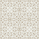 Abstract lace vector seamless geometric pattern in nice light ye Stock Photo