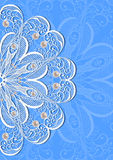 Abstract lacy ornament with pearls Royalty Free Stock Image