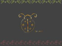Abstract ladybug background Stock Image
