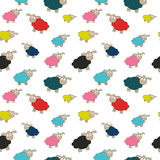 Abstract lamb seamless pattern background vector illustration Stock Images