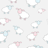 Abstract lamb seamless pattern background vector Stock Images