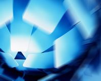 Abstract lampshade in blue Stock Image