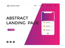 Abstract landing page design -abstract royalty free illustration