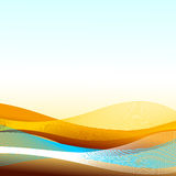 Abstract landscape. This illustration can be used for your design Royalty Free Stock Photo