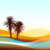 Abstract landscape. This illustration can be used for your design Stock Image