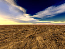 Abstract landscape. 3d render Stock Photos