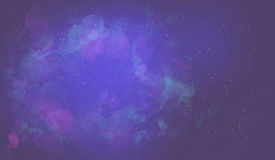 Abstract landscape/ background / digital painting. Starry sky, space, colored clouds, fog Royalty Free Stock Photos