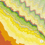 Abstract landscape background. Mosaic. Royalty Free Stock Image