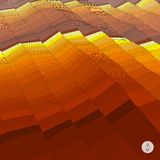 Abstract landscape background. Mosaic vector Stock Photography