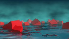 Abstract landscape royalty free illustration