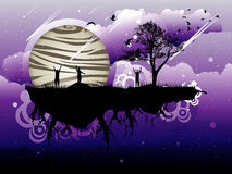 Abstract landscape illustration Royalty Free Stock Photography