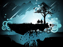 Abstract landscape illustration Royalty Free Stock Image