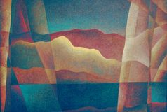 Abstract Landscape 11, Digital Art by Afonso Farias and Denilson Bedin. Abstract Landscape 11, illustration effect, Digital Art by Afonso Farias and Denilson Stock Photos