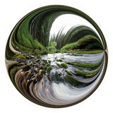 Abstract landscape river circle Stock Image