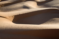 Abstract landscape of the sand dunes desert of Sahara Stock Images