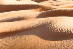 Abstract landscape in the Sand dunes desert of Sahara South Tunisia. Abstract landscape in the Sand dunes desert of Sahara, South Tunisia Stock Image