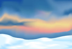 Abstract landscape with snow Royalty Free Stock Photography