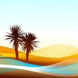Abstract landschap Stock Afbeelding