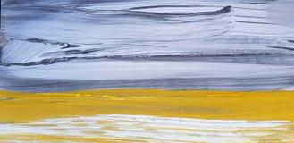 Abstract Landschap Art Painting Background Modern art royalty-vrije illustratie