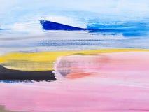Abstract Landschap Art Painting Background Modern art stock illustratie