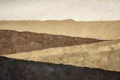 Abstract landschap - reeks geweven document bladen stock afbeelding