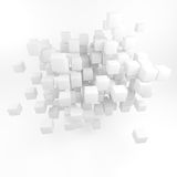 Abstract of a large number of squares. 3D render. Royalty Free Stock Photography