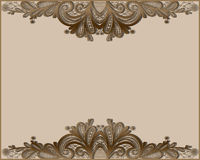 Abstract lase border in beigr and brown. Stock Image