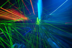 Abstract laser light. Abstract laser shot in a night club Stock Image