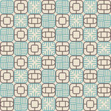 Abstract lattice. On a beige background in seamless pattern Royalty Free Stock Images