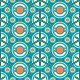 Abstract lattice on a blue background. In seamless pattern Royalty Free Stock Photography