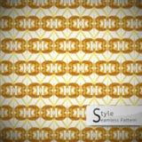 Abstract lattice Golden ribbon vintage geometric seamless patter Stock Photography