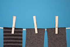 Abstract Laundry on Blue Stock Photo